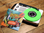 Limited edition green vinyl 7 inch, 300 copies hand numbered