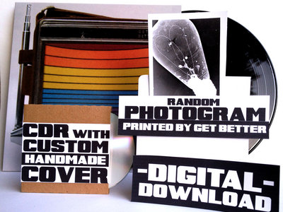 DELUXE! Digital Album + LP + Custom Handmade CDR + Random Photogram printed by Get Better