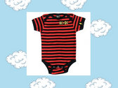 AC/DC Striped Onesie