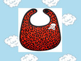 Red Leopard Bib