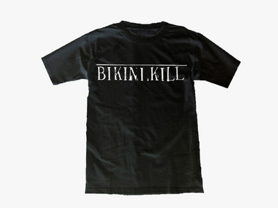 Bikini Kill logo shirt - white on black main photo