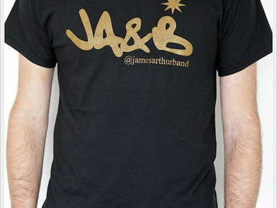 James Arthur & Band Logo T-Shirt, Black/Gold Print
