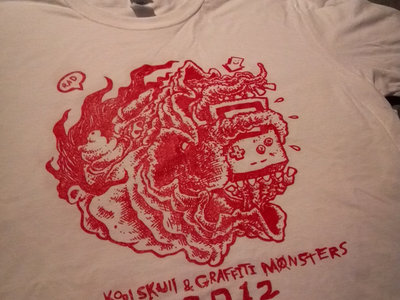 Graffiti Monsters + Kool Skull 2012 tour shirt (size large only)