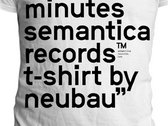 Semantica 5 Years T-shirt by Neubau. SEMANTICA 13B
