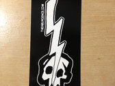 Lightning Bolt Skull Sticker