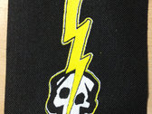 Lightning Bolt Skull Small Patch