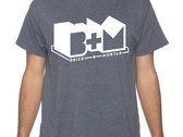 Heather Grey T-Shirt w/ White