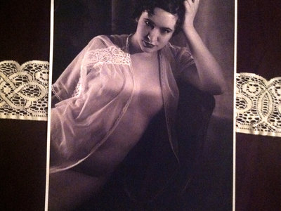pin-up poster black and white
