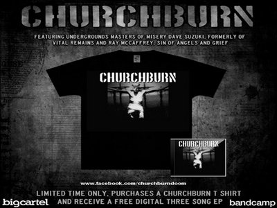 "CHURCHBURN T-SHIRT ""MENTOR"" main photo"