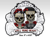 Well Hung Heart - Sugar Skulls Album Art Sticker (Die Cut)