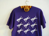 Purple Donky Tee with White Print & a Zillion Purple Donkys