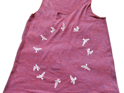Tank Top - Cranberry bird