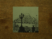 Signed Booklet Card With Hand Stamped Artwork (Berlin Cityscape Collage)