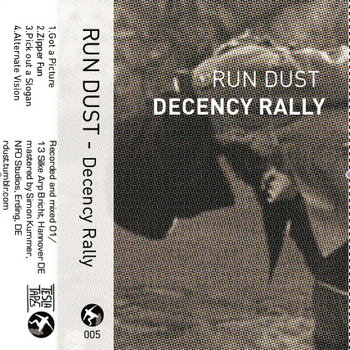 RUN DUST - DECENCY RALLY cover art