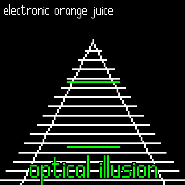 """Optical Illusion"" by electronic orange juice - album art"