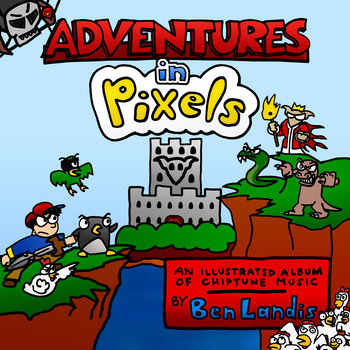 Adventures in Pixels (album+comic) cover art