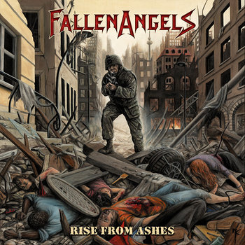 "FALLEN ANGELS ""Rise From Ashes"" cover art"