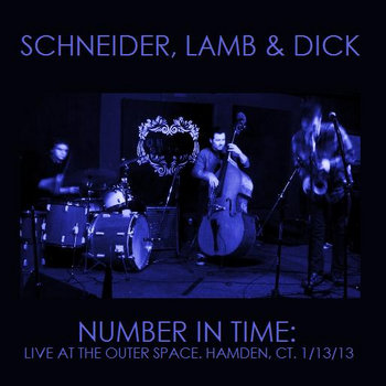 NUMBER IN TIME: live at the outer space. hamden, CT. (1/13/13) cover art