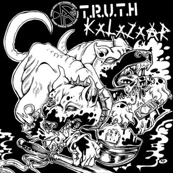"Kalazaar / (A)TRUTH 7""split cover art"