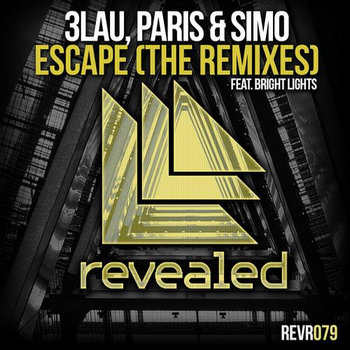 3LAU, Paris & Simo feat. Bright Lights - Escape (TomaSayer Remix) cover art