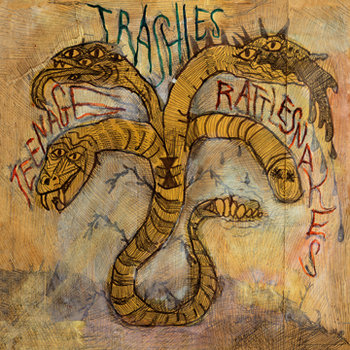 "The Trashies ""Teenage Rattlesnakes"" LP cover art"