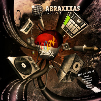 Abraxxxas : 1000 BORNES (Free LP Collectif)) cover art