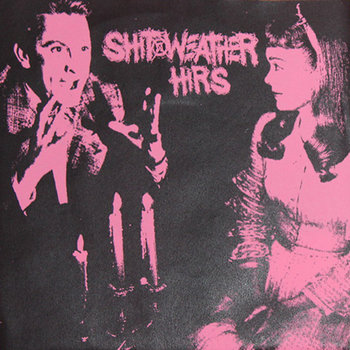"split one sided 7"" SHIT WEATHER cover art"
