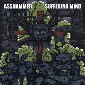"split 12"" with Asshammer cover art"