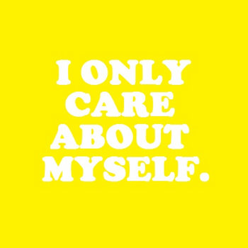 i only care about myself. cover art