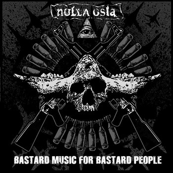 "F.K.R.#28 - NULLA OSTA - ""Bastard music for bastard people"" 12"" LP cover art"