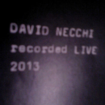 DAVID NECCHI recorded live 2013 cover art