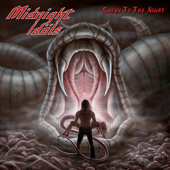 "MIDNIGHT IDOLS ""Sworn To The Night"" cover art"