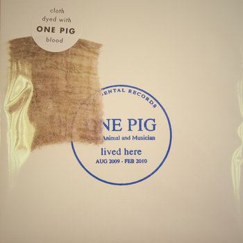 "'One Pig: a life in 3 minutes' 7"" single cover art"