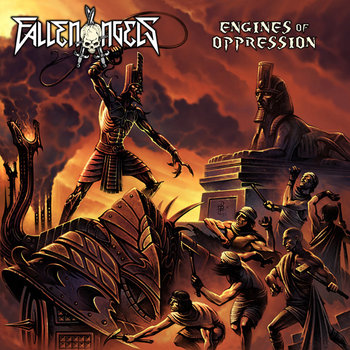 FALLEN ANGELS &quot;Engines Of Oppression&quot; cover art