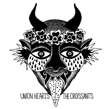 The Croissants / Union Hearts - Split cover art
