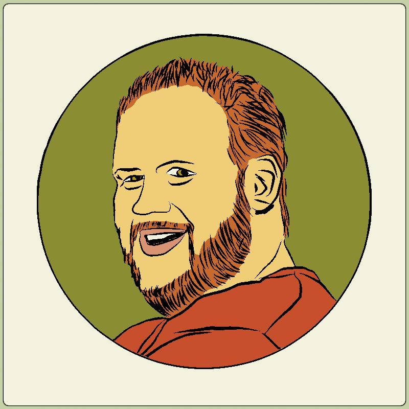 cartoonified musician