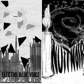 "HIS ELECTRO BLUE VOICE / NUIT NOIRE split 7"" cover art"