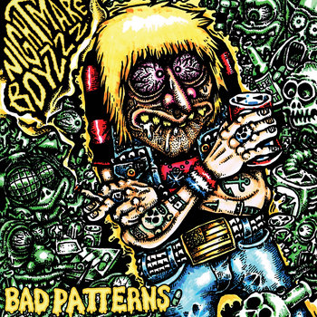 "NIGHTMARE BOYZZZ ""Bad Patterns"" LP cover art"