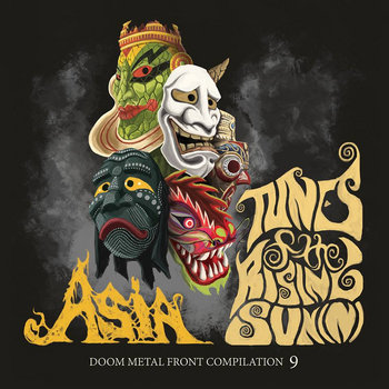 "DOOM METAL FRONT #11 incl. compilation 9 - ""ASIA: Tunes Of The Rising Sun(n)"" cover art"