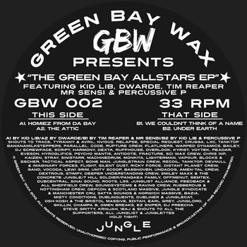 "GBW 002 ""The Green Bay Allstars EP"" (12"" Vinyl) cover art"