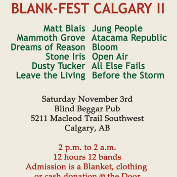 Blank-Fest Calgary II - Comp - Vol2 - It's About The Homeless; Nothing More, Nothing Less cover art