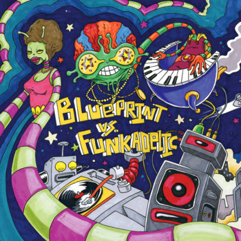 Blueprint vs Funkadelic cover art