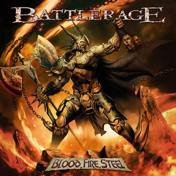 "BATTLERAGE ""Blood, Fire, Steel"" cover art"