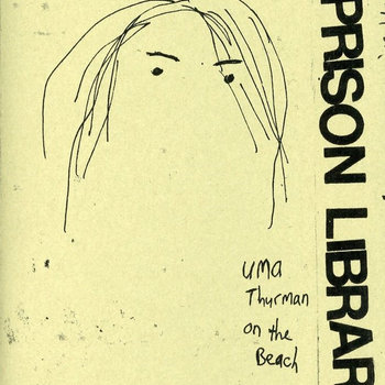 uma thurman on the beach cover art