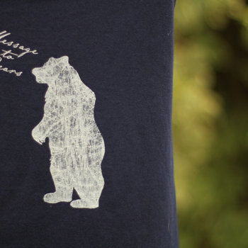 Men's slim-fit tee, standing bear design. (Various colours) cover art