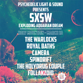 "SXSW ""Exploding Aquarian Dream"" cover art"