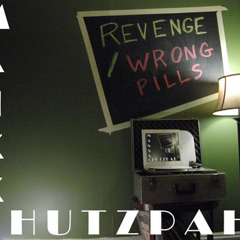 "Revenge / Wrong Pills 10"" split cover art"