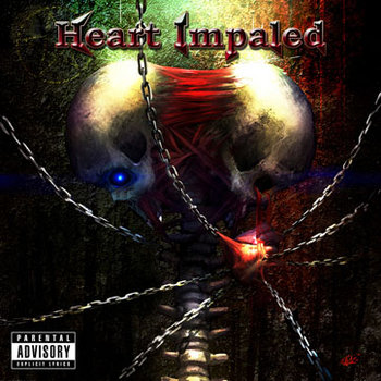 Heart Impaled 14 Track LP cover art