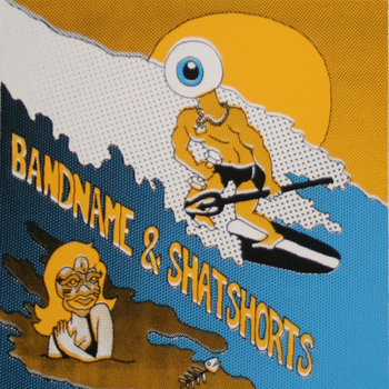 "Shat Shorts / Bandname Split 7"" cover art"