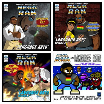 Mega Ran in Language Arts, Vols 1, 2 & 3 cover art